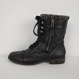 Madden Girl Black Lace Up Boots Size 6.5
